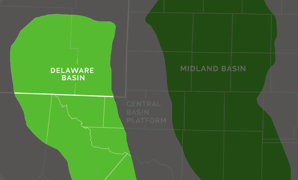 Map of Delaware Basin