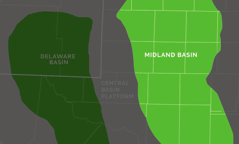 Map of Midland Basin